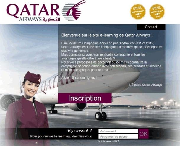 Le nouvel e-learning de Qatar Airways - DR