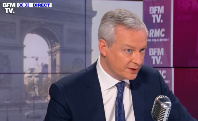 """Bruno Le Maire a déclaré travailler sur """"une solution sur mesure pour toutes les entreprises"""" en difficulté - Capture écran"""