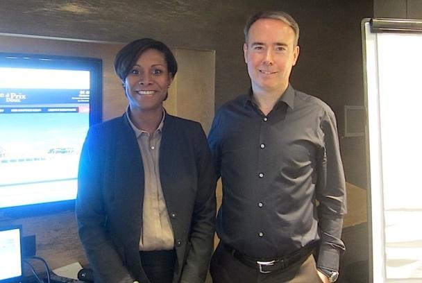 Olivier Kervella, le PDG de NG Travel accompagné par Corinne Louison, la directrice générale adjointe de Directours - DR : LAC