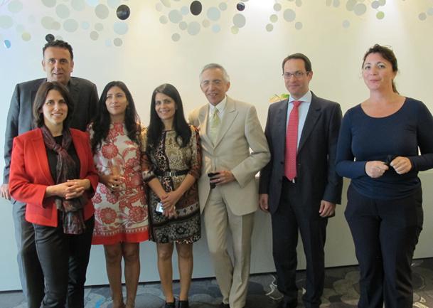 Dorit Livshin, directrice de l'OT d'Israël, accompagnée des membres de l'OT et de l'association des hôteliers de Tel-Aviv, à Marseille - DR : A.B.
