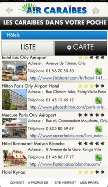Air Caraïbes lance son application mobile