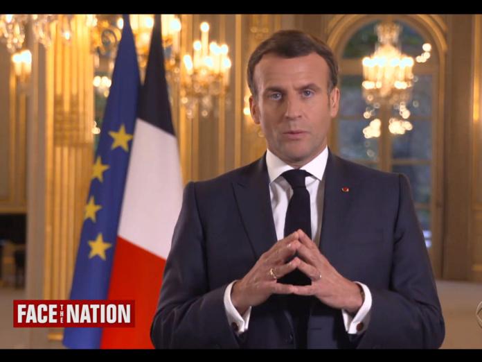 Emmanuel Macron sur la chaîne de TV CBS - DR capture