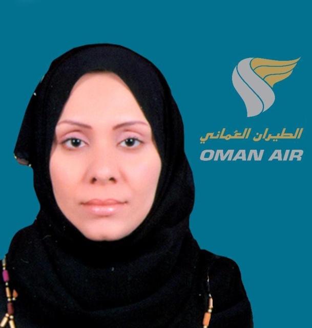 Gheitha Suleiman Salim Al Hony est la nouvelle chef chef d'escale d'Oman Air à Abu Dhabi - Photo DR