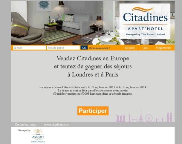 Challenge de ventes : Citadines fait gagner des séjours à Londres et Paris