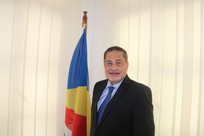 Sylvestre Radegonde, ministre du tourisme des Seychelles, affiche un bilan enviable dans la lutte contre le coronavirus /crédit dr