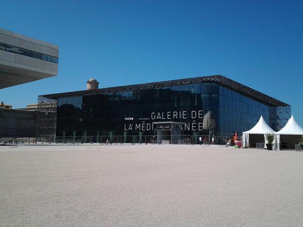Le Mucem offre une surface d'expositions de 4 800 m2. Le bâtiment a été réalisé par l'architecte Rudy Riciotti, associé à Roland Carta - DR : P.Coronas