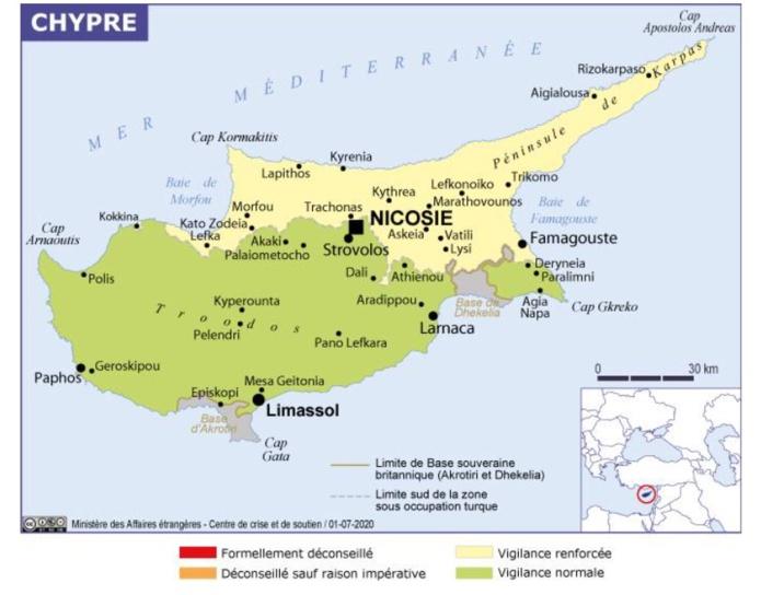 Les voyageurs français devront réaliser deux tests, dont l'un lors de l'arrivée à Chypre - Crédit photo : France Diplomatie