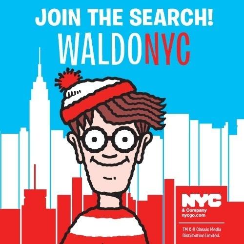 """Waldo, le personnage de """"Où est Charlie ?"""" suggère des destinations et des excursions """"family-friendly"""" sur Nycgo.com - DR"""