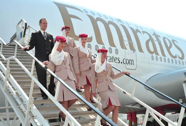 """Emirates dispose de la """"5ème liberté"""" en Grande-Bretagne, en Scandinavie, en Italie, au Benelux.  DR"""