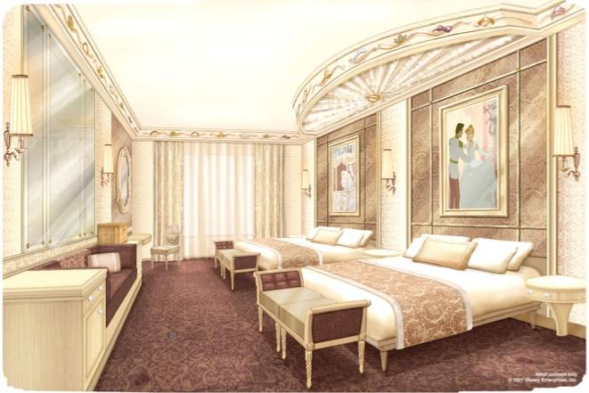 Le Disneyland Hotel deviendra le royaume de nombreuses Princesses et Princes Disney, issus de classiques comme La Belle et la Bête, Cendrillon et La Belle au Bois Dormant, mais aussi des récents succès animés La Reine des Neiges et Raiponce. - DR