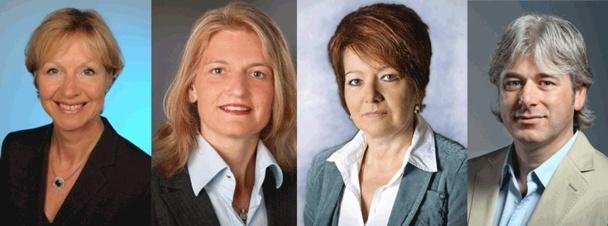 Anne Rösene, Anke Hsu, Janine Boulay et David von Banck - DR