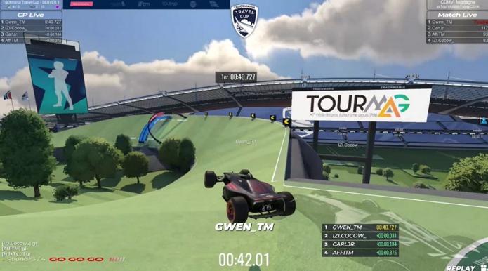 Trackmania Travel Cup a cumulé 14 396 spectateurs sur lives et 31 700 visionnages pour les replays - Capture écran