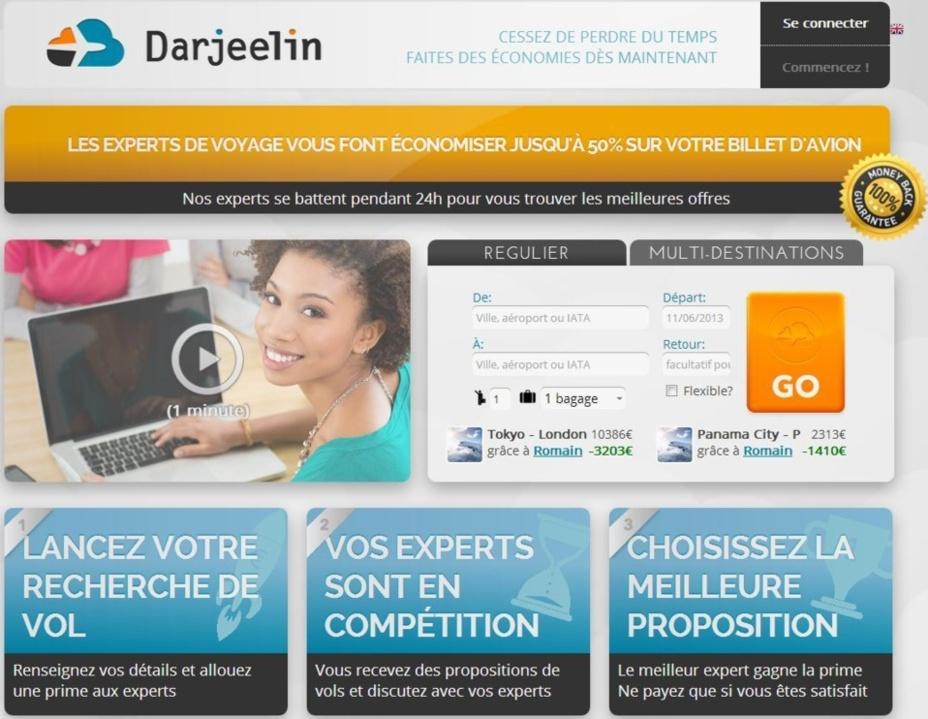 Devenir expert pour Darjeelin est un moyen de mettre en valeur votre expertise et de gagner en notoriété - Capture d'écran, www.darjeelin.fr