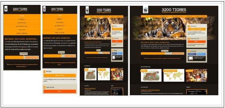 "L'approche ""Mobile first"" : l'exemple du site de WWF - DR"