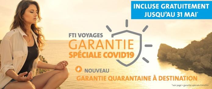 """La """"Garantie spéciale COVID19"""" incluse gratuitement pour tous les forfaits réservés entre le 1er et le 31 mai 2021 - DR"""