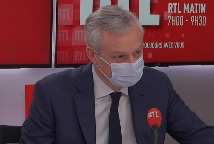 En mai 2021, le fonds de solidarité sera gardé dans son intégralité selon Bruno Le Maire - Capture écran : site RTL
