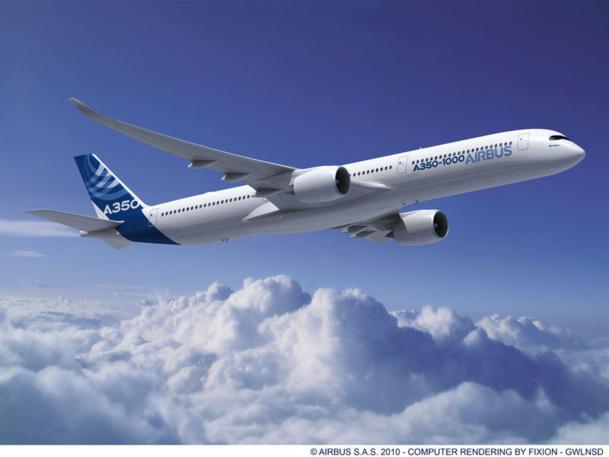 Un passage de l'A350, une semaine après son premier vol d'essai à Toulouse, le jour de la visite au Bourget du président François Hollande vendredi 21 juin, est toujours de l'ordre du possible... - DR : AIRBUS
