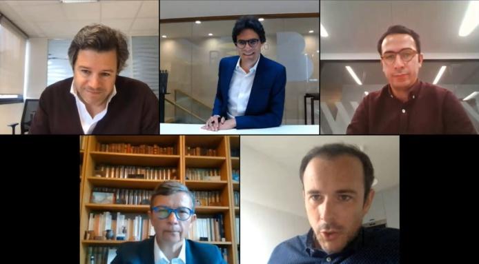 Webinaire organisé Roland Berger avec les représentants d'Accor, Aribnb, Evaneos, et du SNELAC - DR