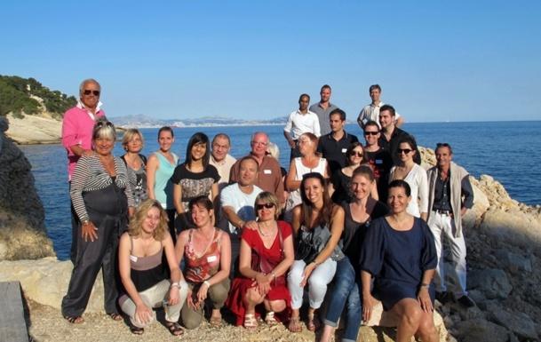 Une partie des participants du séminaire de ce week end au Club Vacanciel de Carry-le-Rouet (cliquer pour agrandir) /photo dr