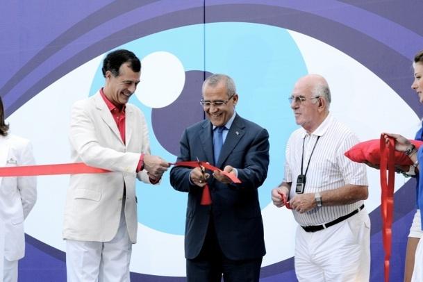 Henri Giscard d'Estaing, Pdg du Club Med a inauguré le Village de Belek avec Buran Silahtaroglu, propriétaire du village, et Abdurragman Arici, Vice-ministre du Tourisme - Photo DR