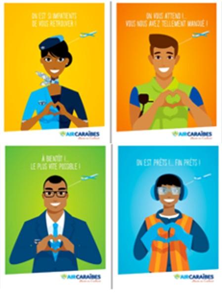 Les visuels de la campagne d'Air Caraïbes - DR