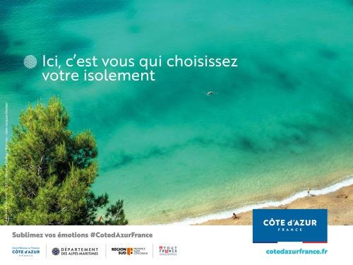 Un des visuels de la campagne de promotion du CRT Côte d'Azur - DR