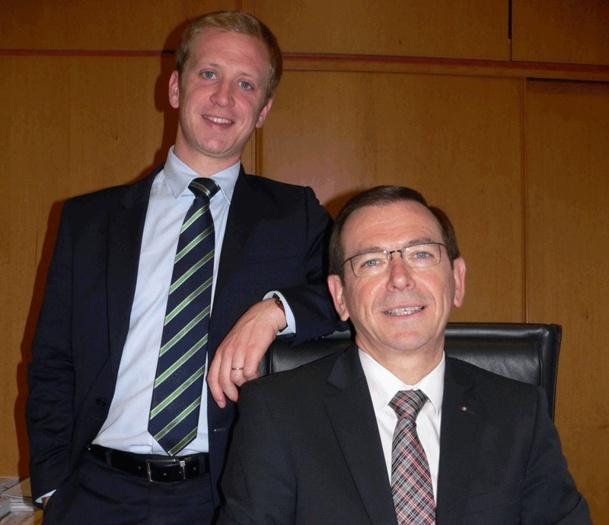 Daniel Richou PDG du groupe Richou, et son fils Jean-François Richou responsable marketing et communication - Photo DR