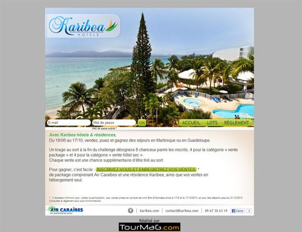 Le challenge de ventes Karibea est réalisé par TourMaG.com - DR