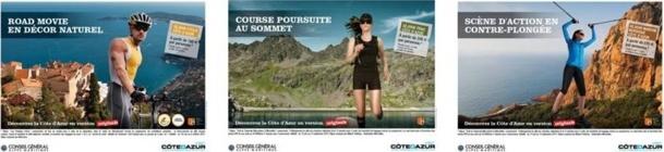 La campagne réalisée par l'Agence Pôle Company fait la promotion d'activités sportives de plus en plus pratiquées par les touristes - DR