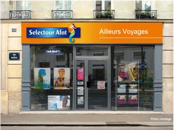 A partir du mois d'août 2013, les 88 agences du groupe seront regroupées sous la marque commune Selectour Afat Ailleurs Voyages - Photo Montage