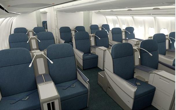 Les 2 nouveaux Airbus A330-200 disposent de 30 sièges en classe affaires permettant une inclinaison à 180 degrés - DR : Air Namibia