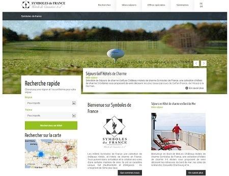 Le nouveau site de Symboles de France se veut plus claire avec une navigation simplifiée - Capture d'écran