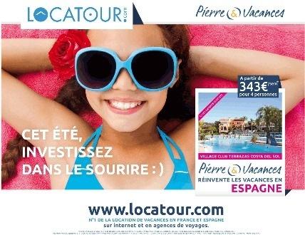 Visuel de la campagne Locatour réalisé en partenariat avec Pierre & Vacances - DR