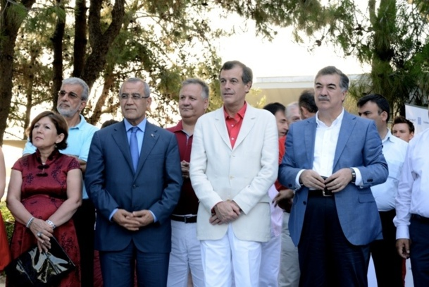 Henri Giscard d'Estaing, PDG du Club Méditerranée a inauguré le Village de Belek en présence de Buran Silahtaroglu, son partenaire et propriétaire du village et d'Abdurrahman Arici, vice-ministre du Tourisme - DR