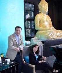 Richard Cuello et Sarah Maingaud, directeur et spa manager du Hilton Evian-les-Bains. ©DR
