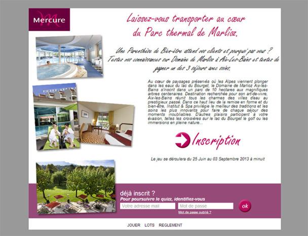 Le domaine de Marlioz fait gagner des séjours avec soins aux agents de voyages