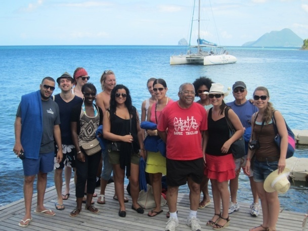 Une dizaine d'agent de voyage ont été invités par XL Airways et le comité martiniquais du tourisme à découvrir l'île de Martinique. DR