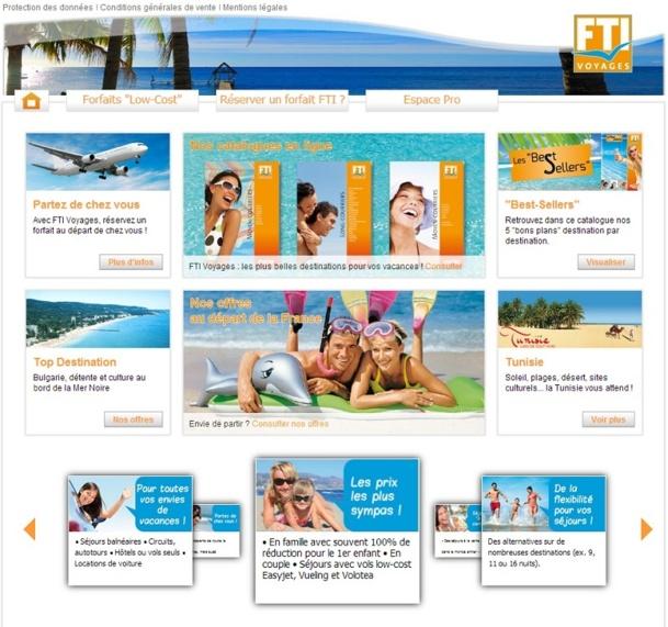 Après l'Est de la France, FTI Voyages compte conquérir l'ensemble du marché hexagonale en proposant des offres adaptées aux attentes des touristes du pays - Capture d'écran