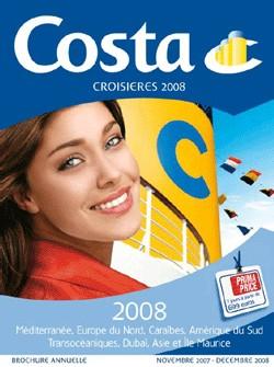 Costa : gagner du temps sur le temps avec la brochure... 2008 !