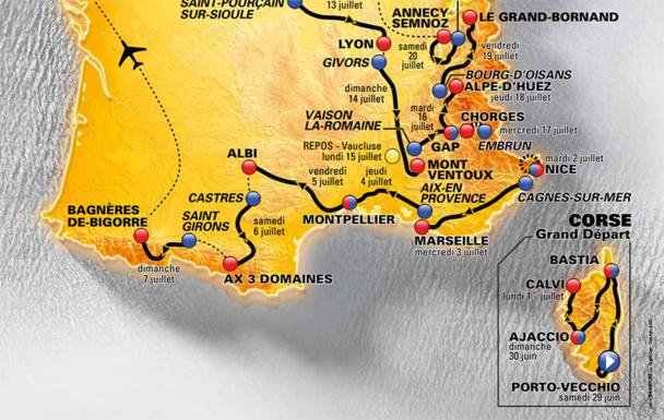 La situation estivale en PACA n'est pas désespérée, surtout avec le passage du Tour de France, dès le 2 juillet 2013 - DR : Amaury Sport Organisation
