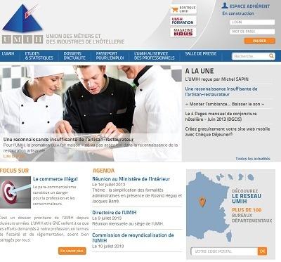 Le nouveau site de l'Umih offre une présentation plus claire et une mise en page plus aérée - Capture d'écran