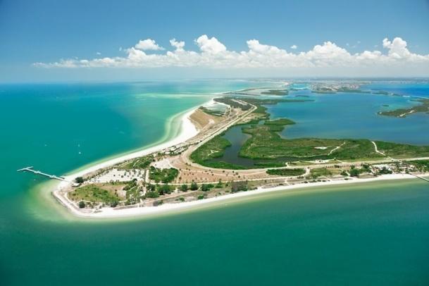 La plage de Fort Soto, l'une des plus réputées de la destination St Petersburg et Clearwater. DR