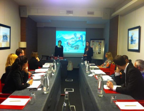Dix agents de voyages ont rencontré les membres de l'OT de l'île Maurice pour une formation à Paris -  DR
