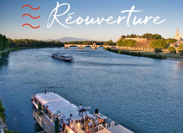 La compagnie avignonnaise des Grands Bateaux de Provence a repris ses activités, le 19 mai 2021 - DR
