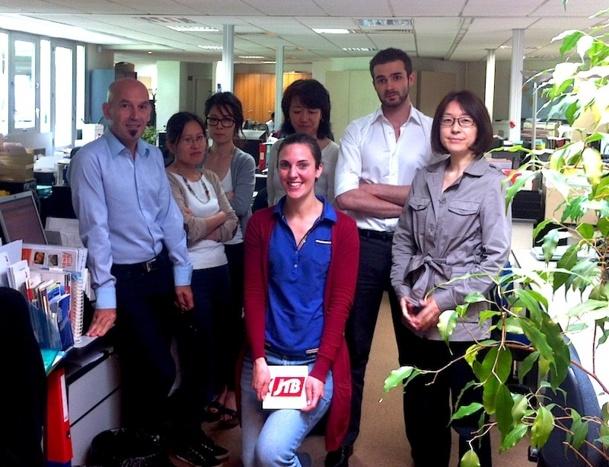 Une partie de l'équipe du réceptif JTB à Paris. DR