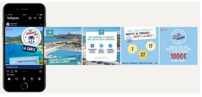 """TUI France lance le jeu """"TUI Summer Tour"""" sur les pages Facebook et Instagram de TUI, Club Marmara et Club Lookéa jusqu'au 31 mai - DR : TUI"""