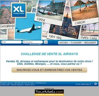 Les agents de voyages devront réaliser le plus de ventes XL Airways entre le 8 juillet et le 7 août 2013 - Capture d'écran