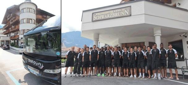 Les joueurs du FC Lorient sont dans le Tyrol autrichien pour préparer la reprise de la saison de football en France - Photo DR