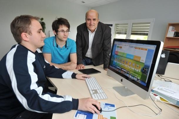 Seddik Chebah (à droite) est le fondateur de Smar'tag - Photo : Julien Chauvet