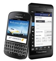 L'application de Jet Airways pour les BlackBerry 10 est téléchargeable gratuitement en ligne - Photo DR